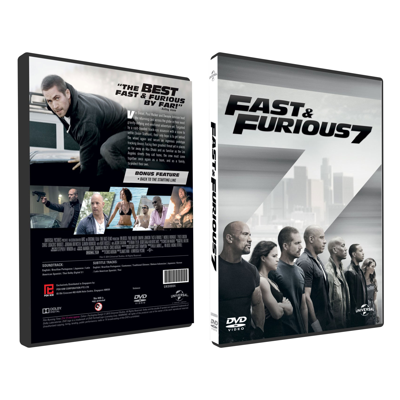 fast furious 7 dvd poh kim video. Black Bedroom Furniture Sets. Home Design Ideas