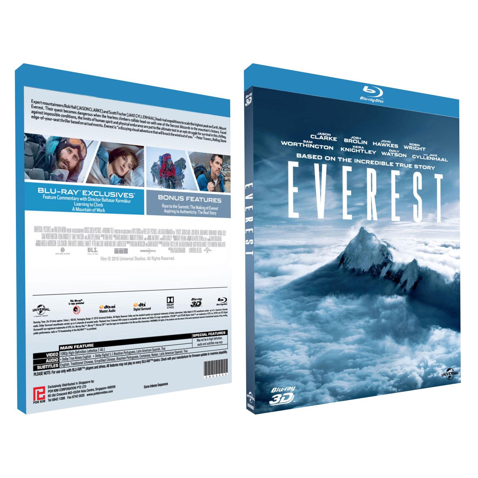 Everest (3D Blu Ray)