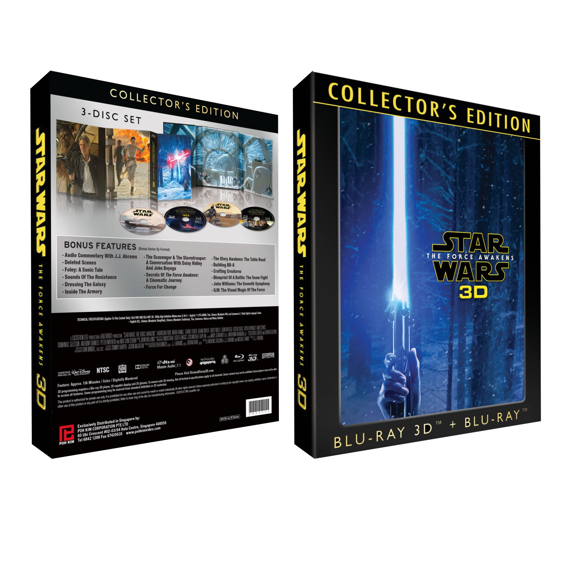 Star wars the force awakens collectors edition 3 disc set 2d swtfa 3d collector edition box malvernweather Images