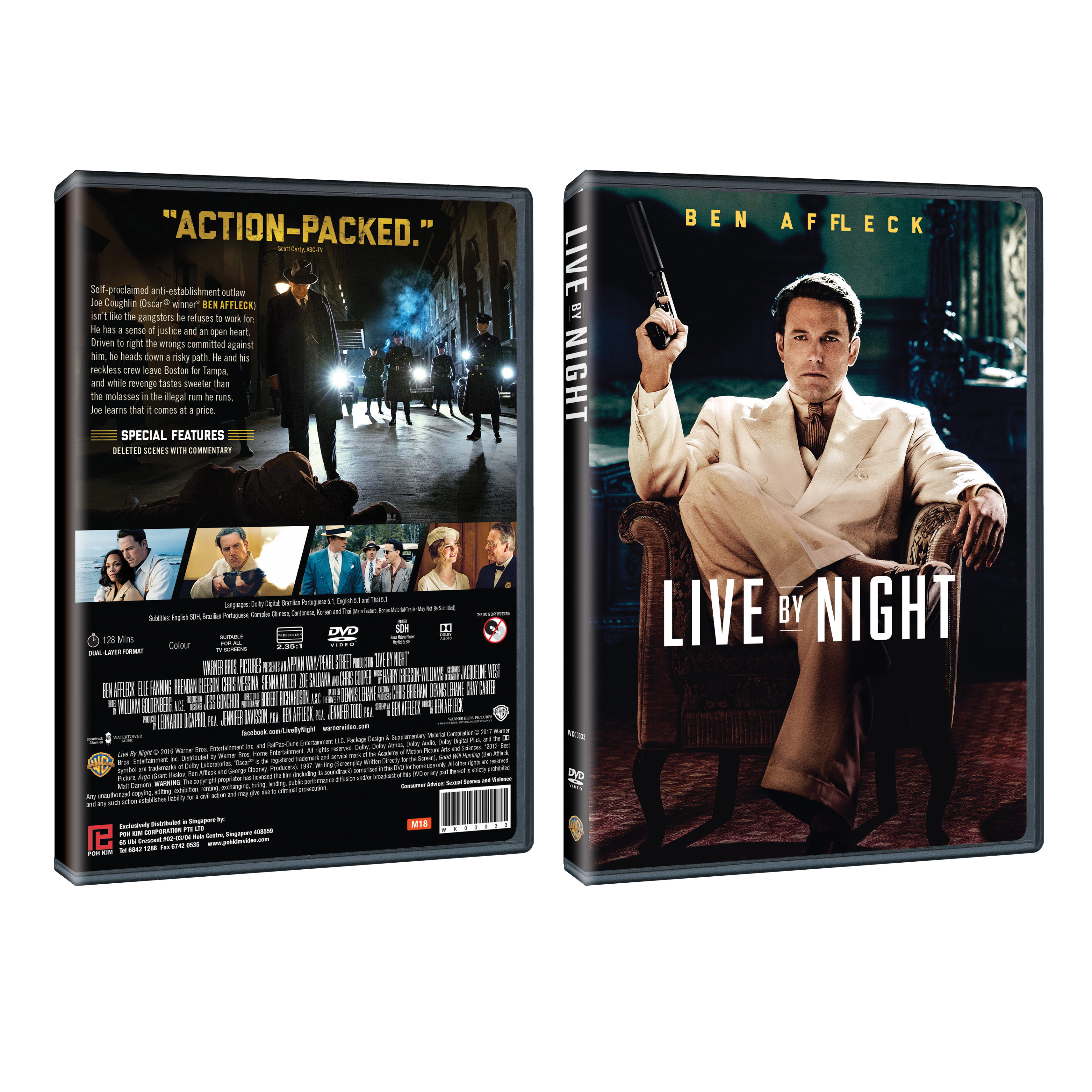 LIVE BY NIGHT DVD Packshot