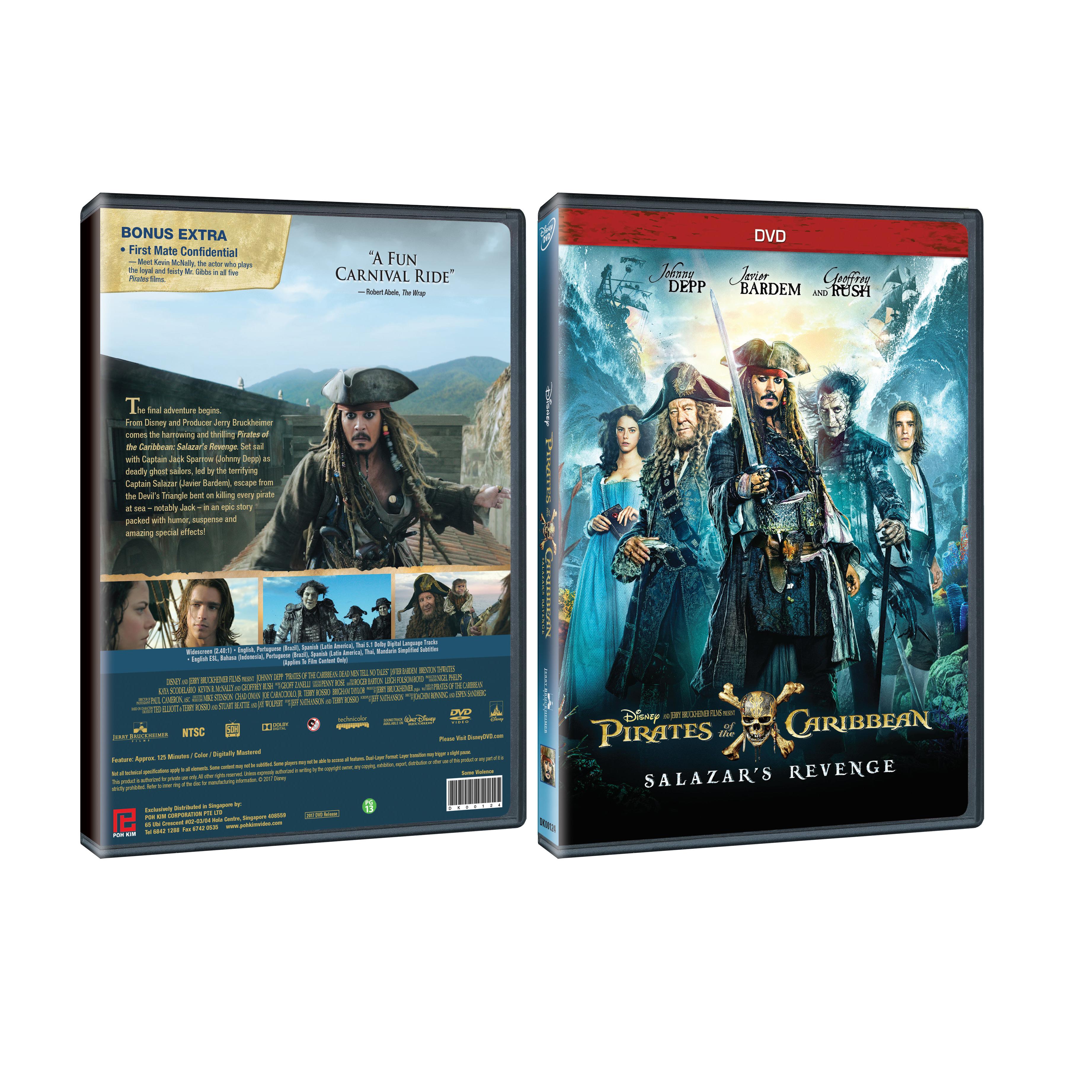 Disney movies  Pirates of the Caribbean  Salazar s Revenge (DVD).  POTC5-DVD-Packshot ee71e6139ca7d