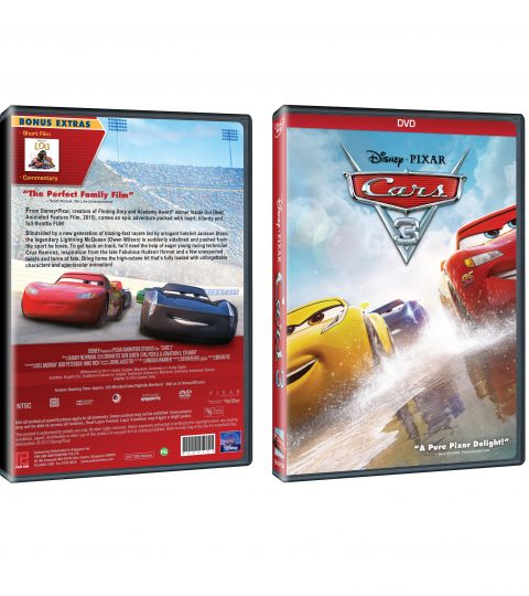 Cars 3 DVD Packshot