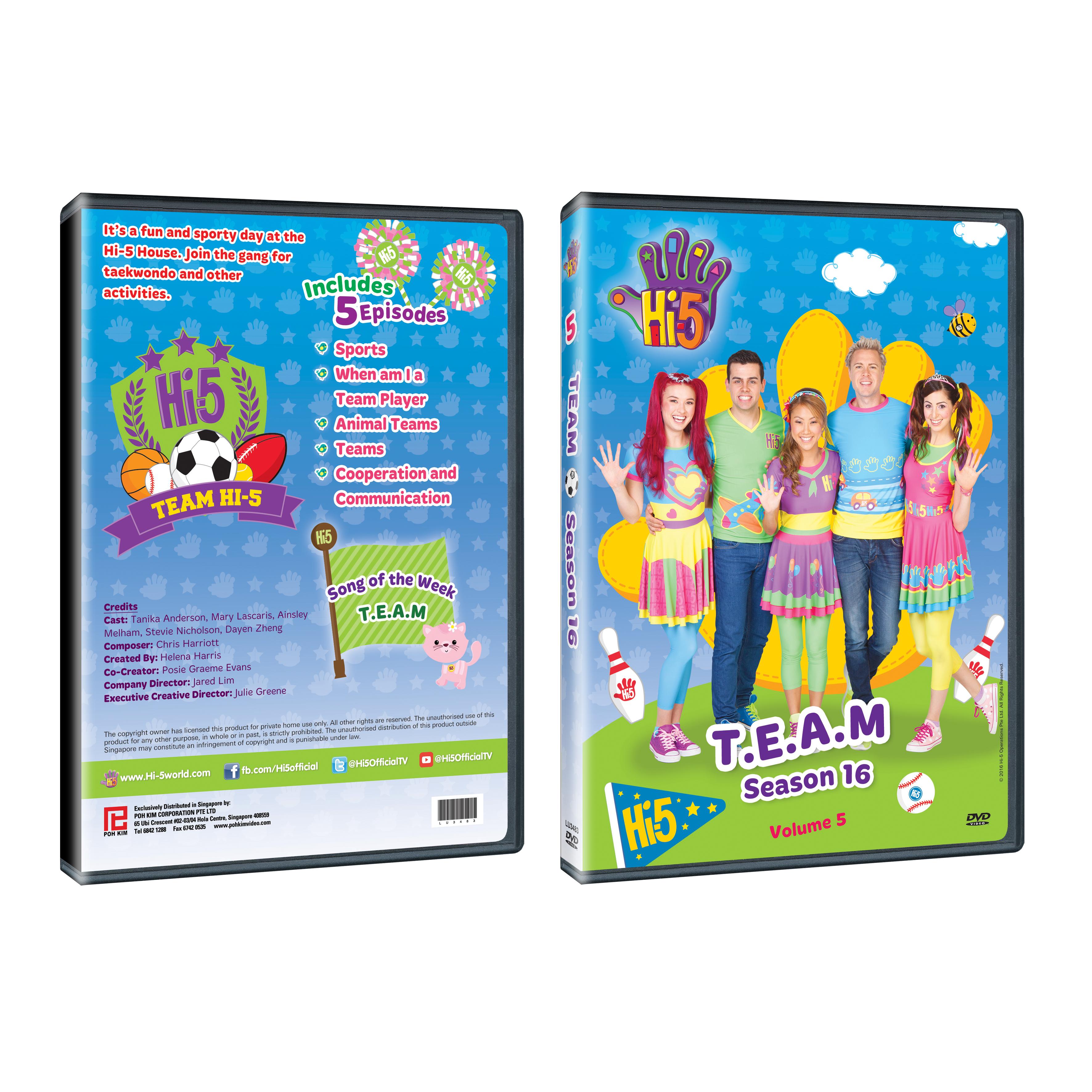 Hi-5 Season 16 Volume 5 : T E A M (DVD)