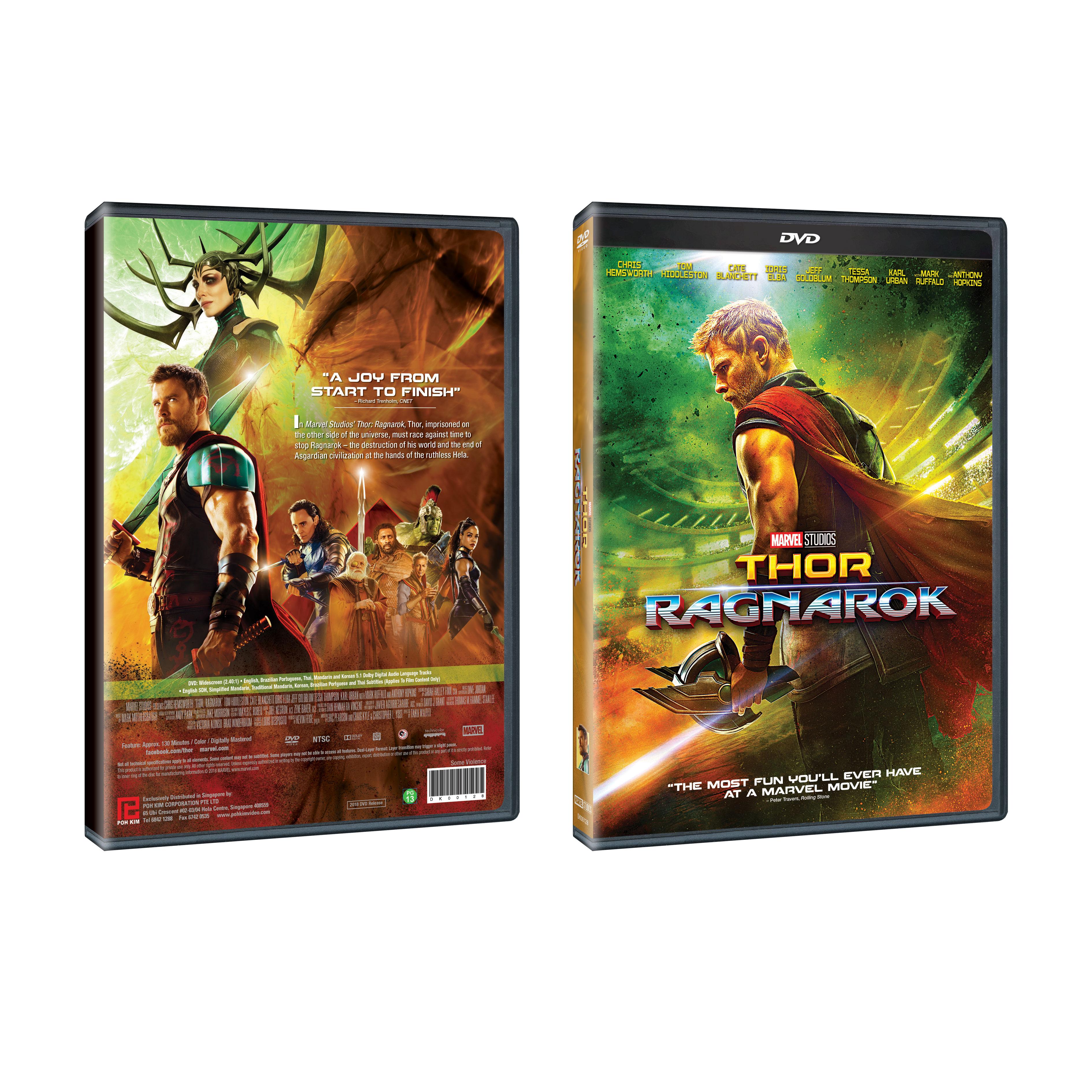 Thor Ragnarok Dvd Poh Kim Video