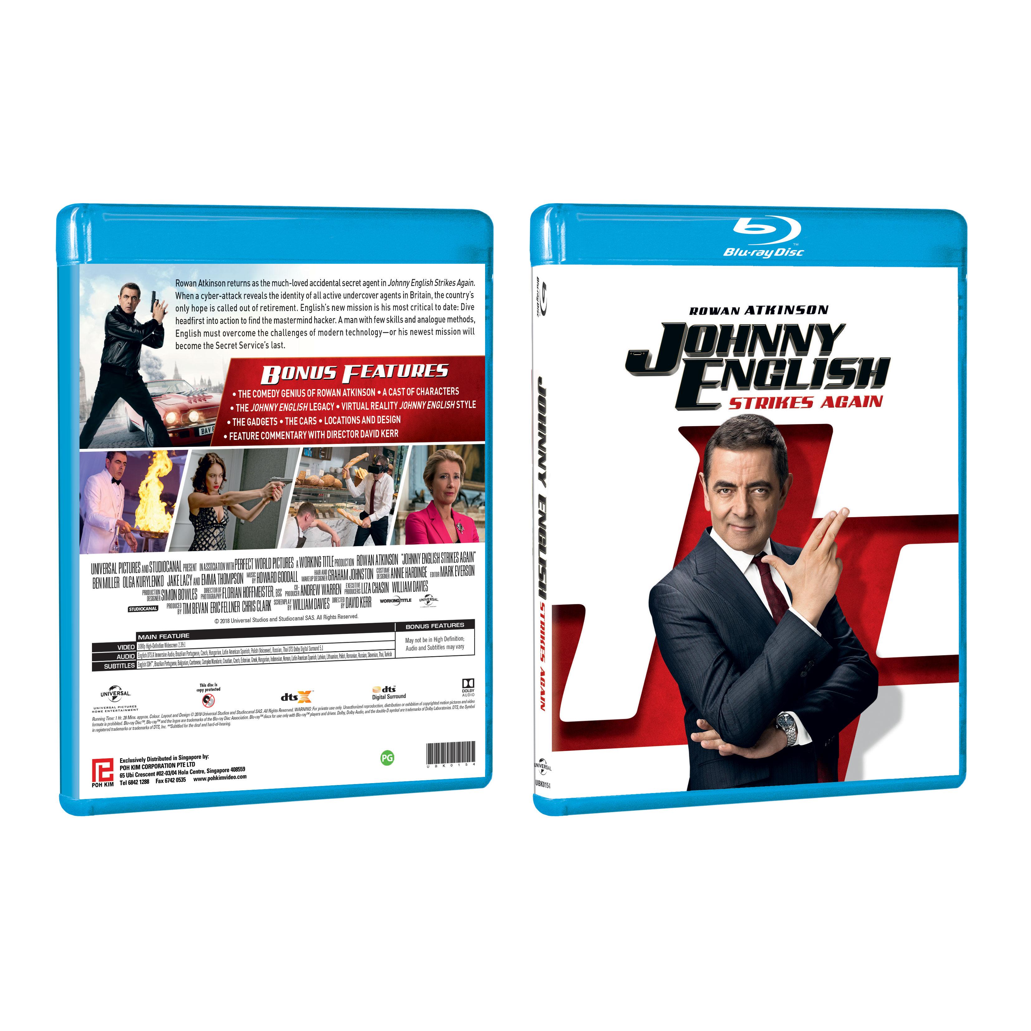 Johnny English Strikes Again Blu Ray Poh Kim Video