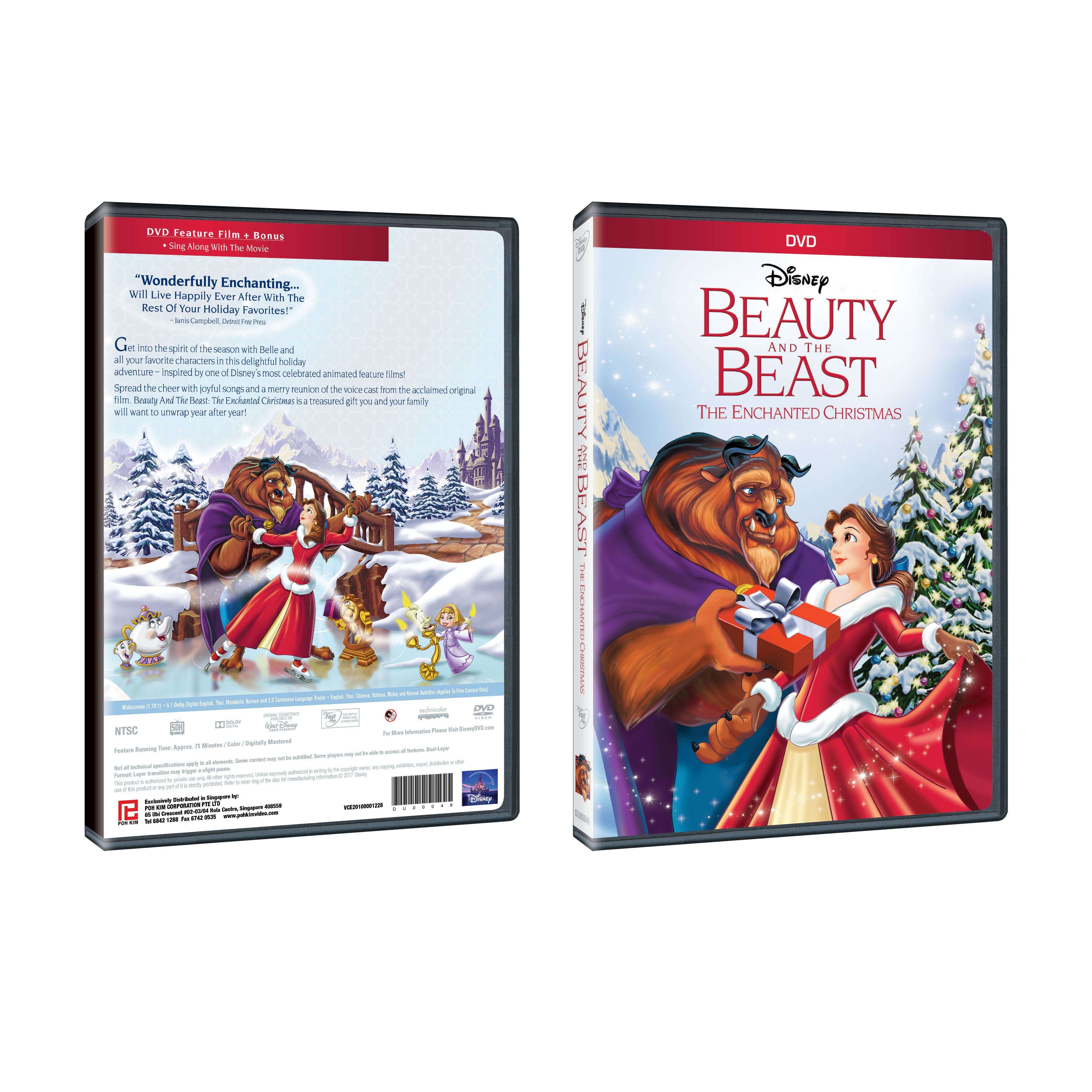 Enchanted Christmas Cast.Beauty And The Beast The Enchanted Christmas Dvd