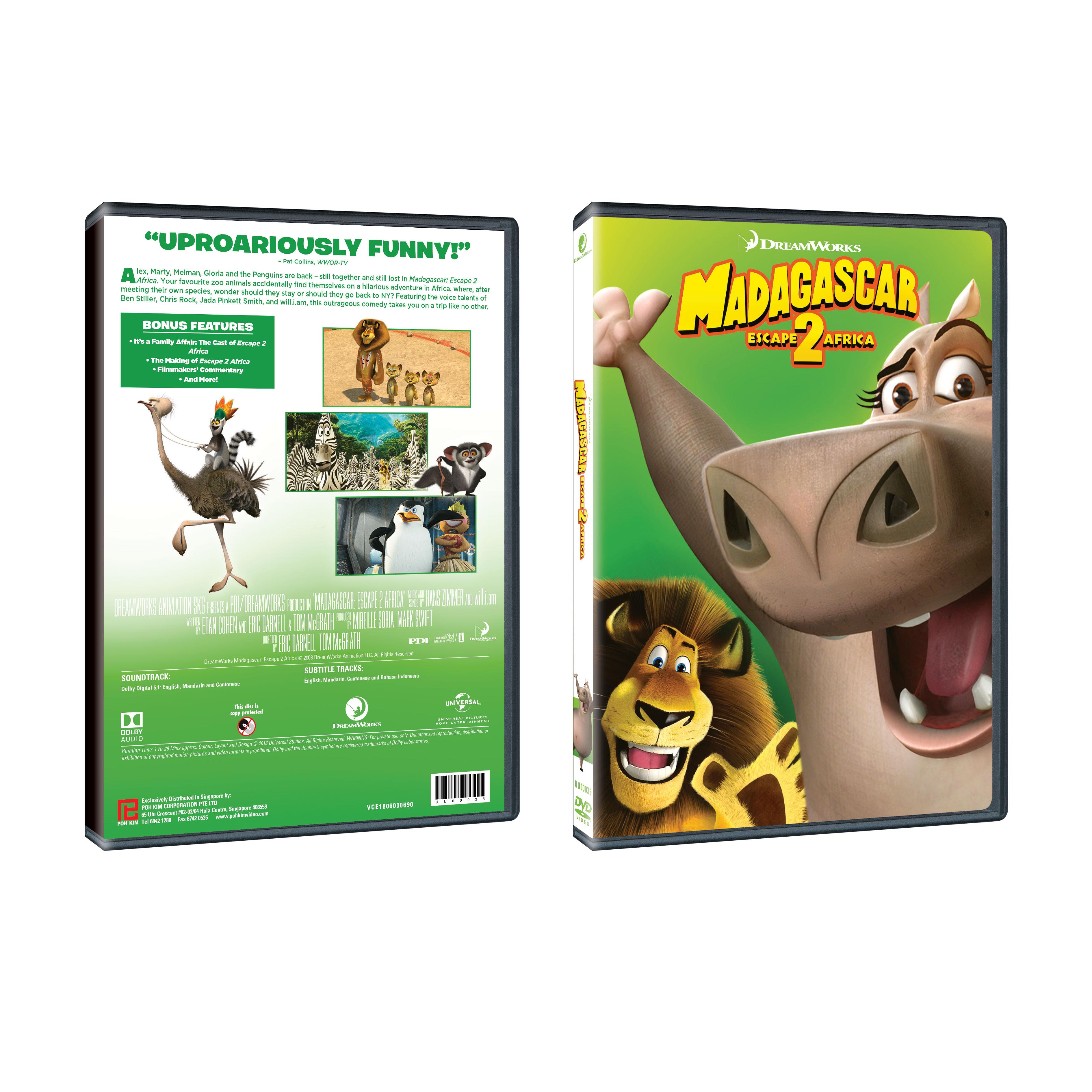 Madagascar Escape 2 Africa Dvd Poh Kim Video