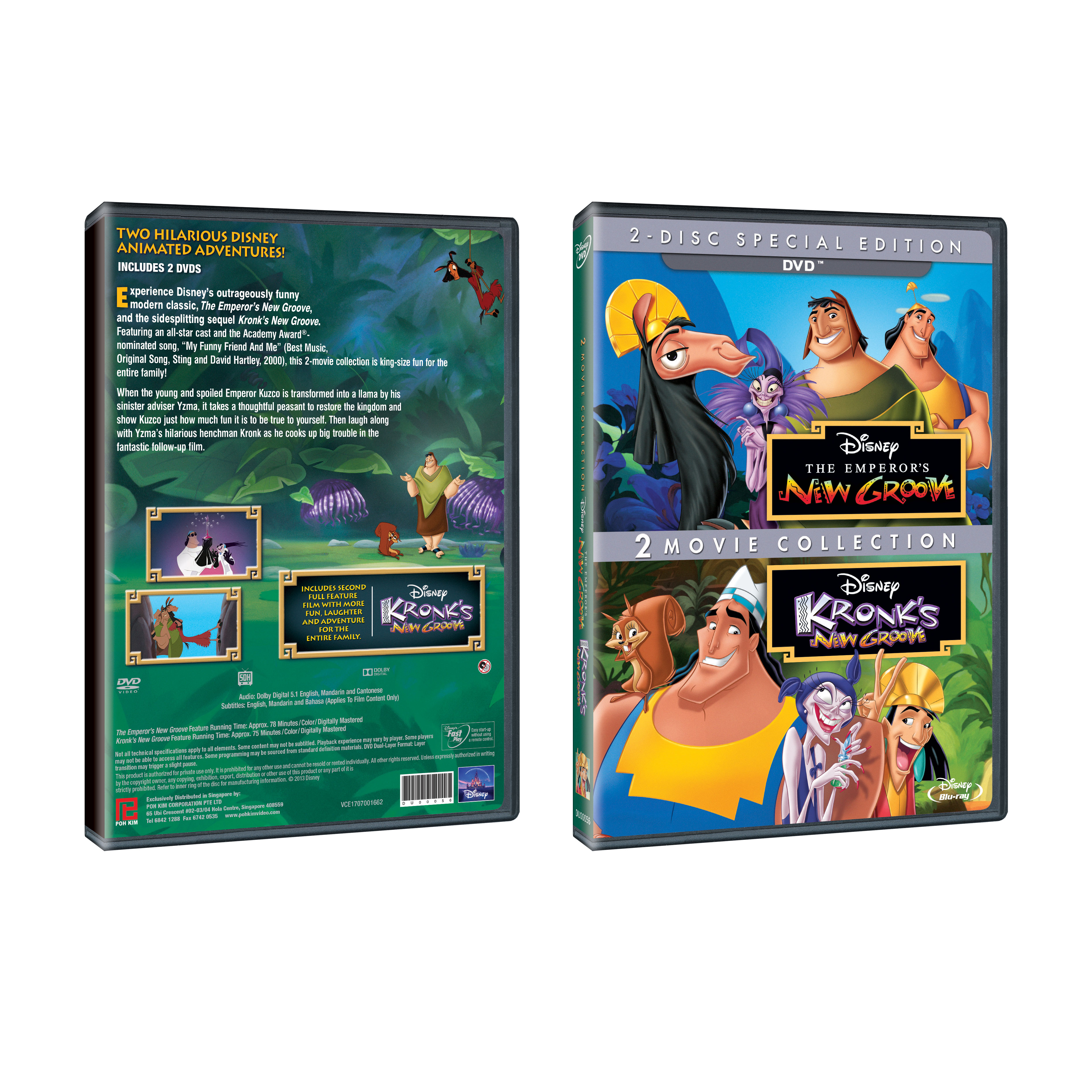 The Emperor's New Groove: 2 Movie Collection (DVD)