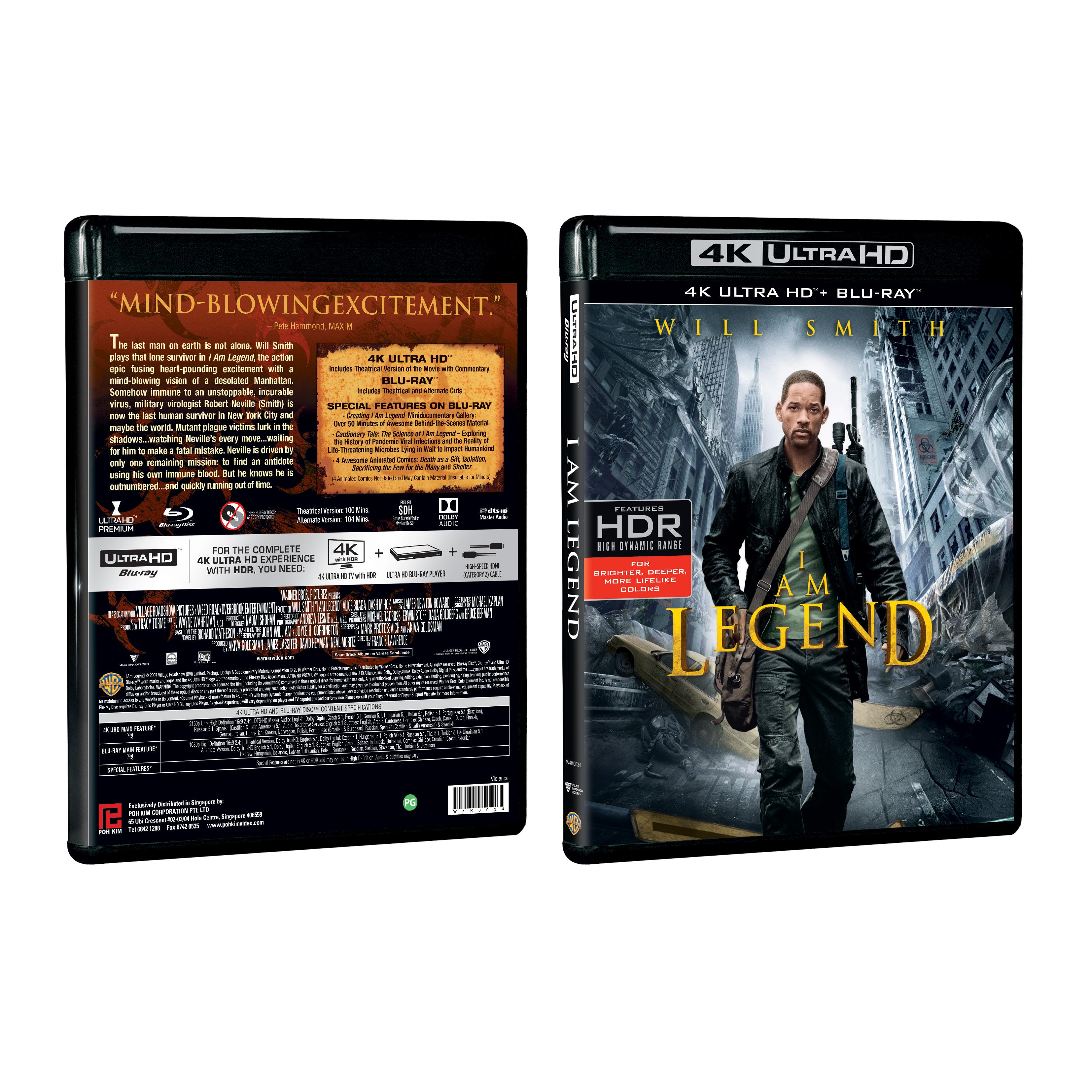 I am Legend (4K Ultra HD + Blu-ray)
